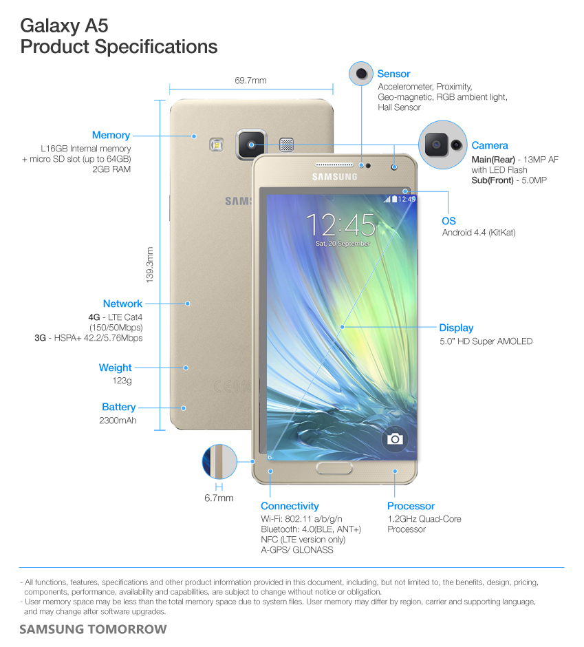 Samsung Galaxy A5 Specs Mobileextract Features And Specifications